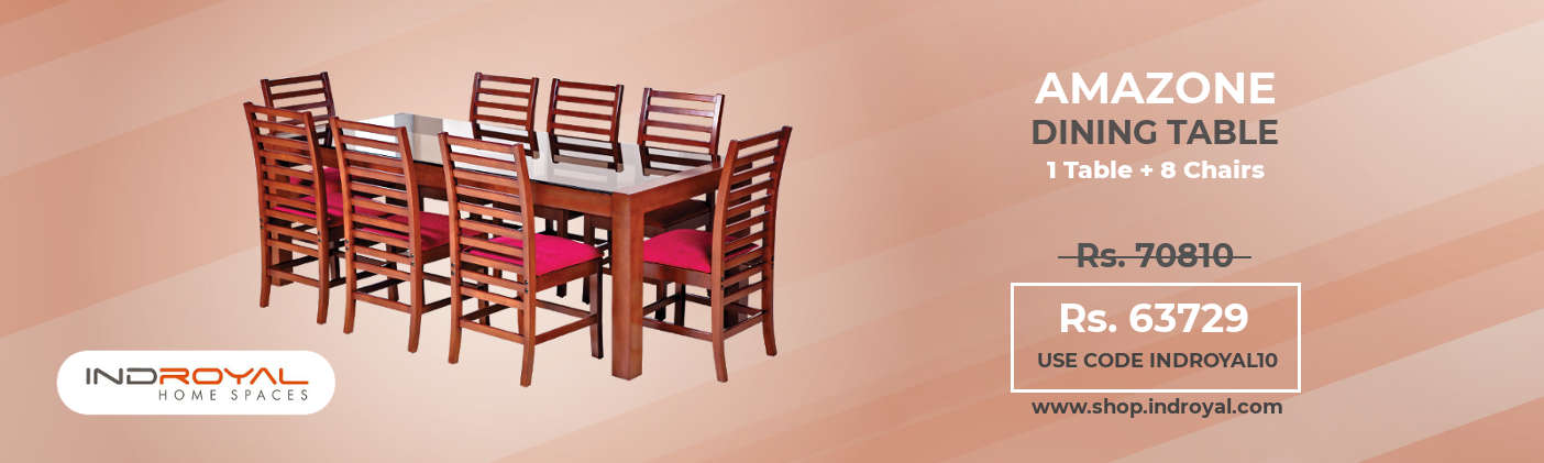 Indroyal Amazone Dining Set 1+8